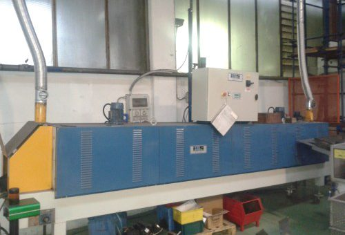 ELECTRICALLY HEATED CONVEYOR BELT FURNACE, WITH FORCED AIR CIRCULATION MODEL 2.71.5